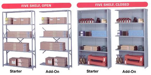 8000 series wide shelving