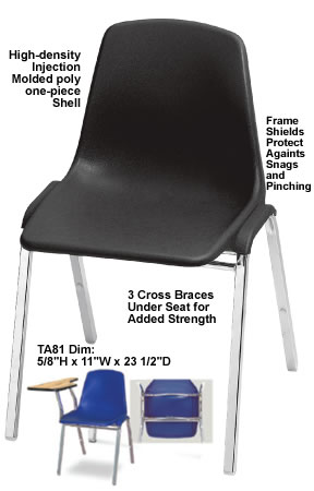 Stack Chairs Poly Shell Chair Hi Tech Ultra Compact