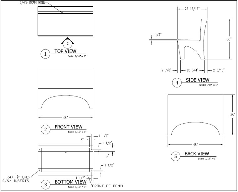 ADA Concrete Bench, Concrete Benches, Concrete Furniture