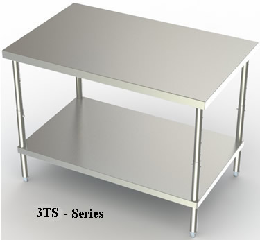 ADJUSTABLE STAINLESS STEEL WORK BENCHES   TS SERIES