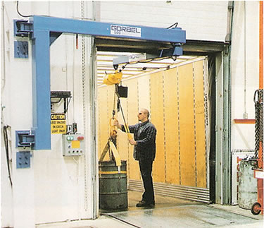 articulating jib cranes wall column mounted