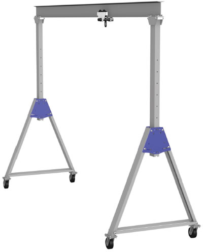 Lightweight: Made From Lightweight Aluminum Track, The Components Of The Gantry  Crane May Be Easily Lifted And Transferred From Location To Location.