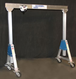 Adjustable Height Aluminum Gantry Crane Gantry Cranes Hoist