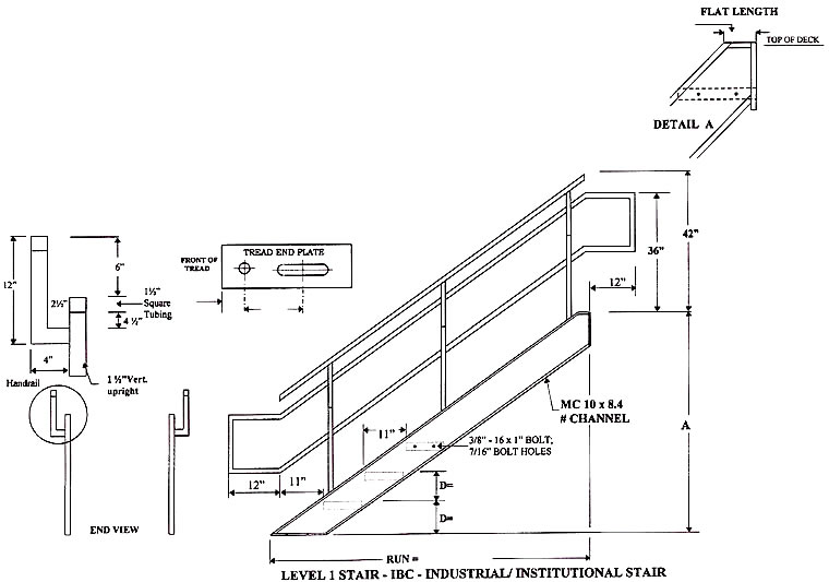 industrial  institutional ibc stairs  ibc prefab aluminum