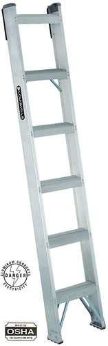 aluminum shelf ladder