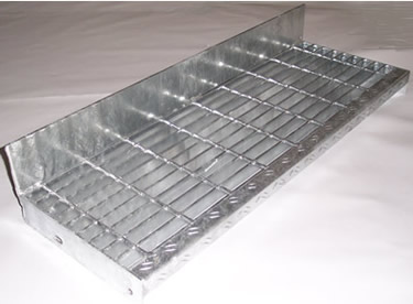 Bar Grating Treads With Toe Kick Bar Grating Stair Treads