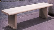 Contour Concrete Bench