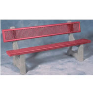 Steel and Concrete Benches