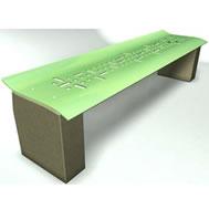 steel precast bench