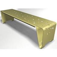 double folded steel bench