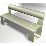 steel bench with back