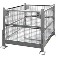 collapsible wire mesh steel bins