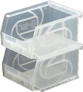 clear series part bins