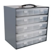 plastic compartment boxes/racks