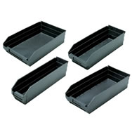 conductive shelf bins & dividable containers