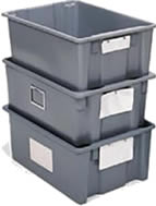 polylewton stack-n-nest containers