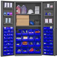 plastic bin shelf cabinets solid doors