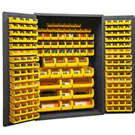 plastic bin welded cabinets solid doors