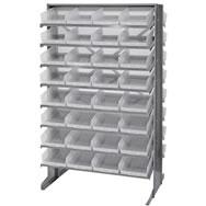 economy shelf bins sloped shelving units