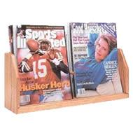oak & acrylic literature racks