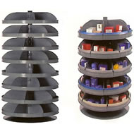rotabin revolving shelf units