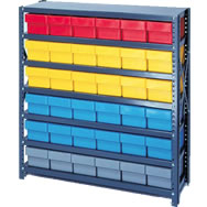 shelving systems with euro drawers