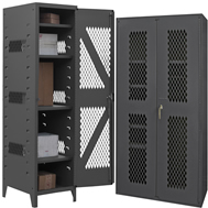 plastic bin & shelf cabinets clearview doors