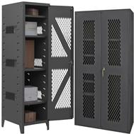 plastic bin & shelf cabinets clearview doors