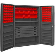 plastic bin & shelf welded cabinets solid doors