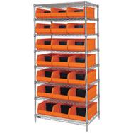 stackable shelf bins
