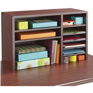 traditional wood desk top organizers
