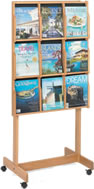 wood display racks and expose displays
