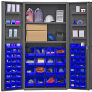 plastic bin shelf cabinets solid doors