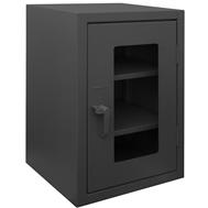 narrow stationary mesh security cabinets
