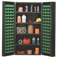 "heavy duty 36"" wide all-welded bin cabinets"