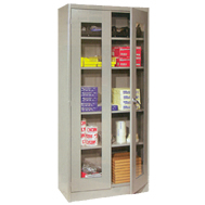 visible storage cabinets