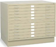 5 drawer and 10 drawer steel flat files