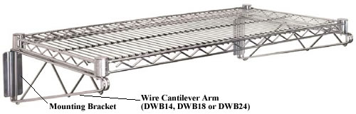 cantilever wall mount units wall mounted wire shelving s79 wire
