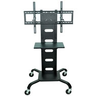 universal stationary flat panel display stands