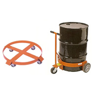 drum dispenser, trucks and dollies