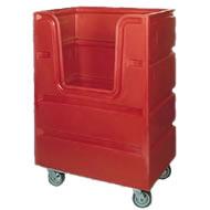 poly linen transport truck