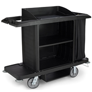 rubbermaid plastic x-tra housekeeping carts