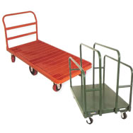 grid deck platform truck and panel cart
