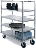 aluminum multi-shelf carts
