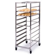 stainless steel narrow opening sheet pan & tray racks