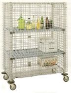 mobile security stroage cart