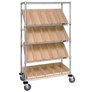 wire slanted shelf cart