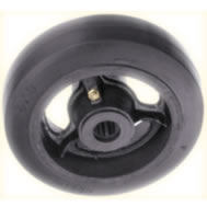 Payvulc Valcanized Mold-On Rubber Wheels