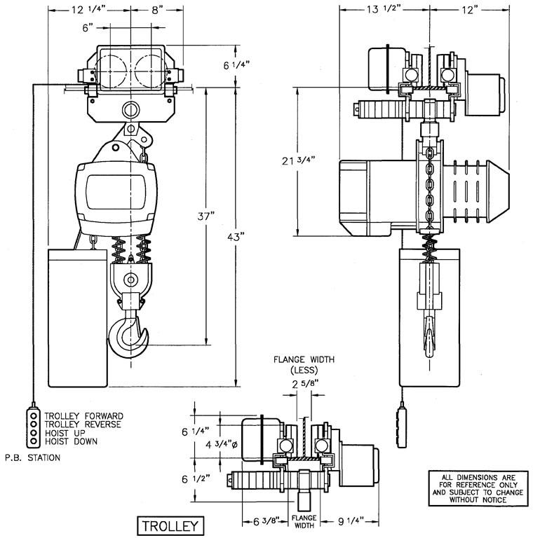 saturn chain hoists  motorized trolleys for chain hoists  electric chain hoists