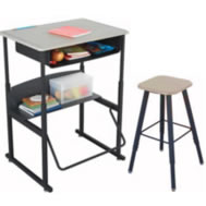 desks and stools